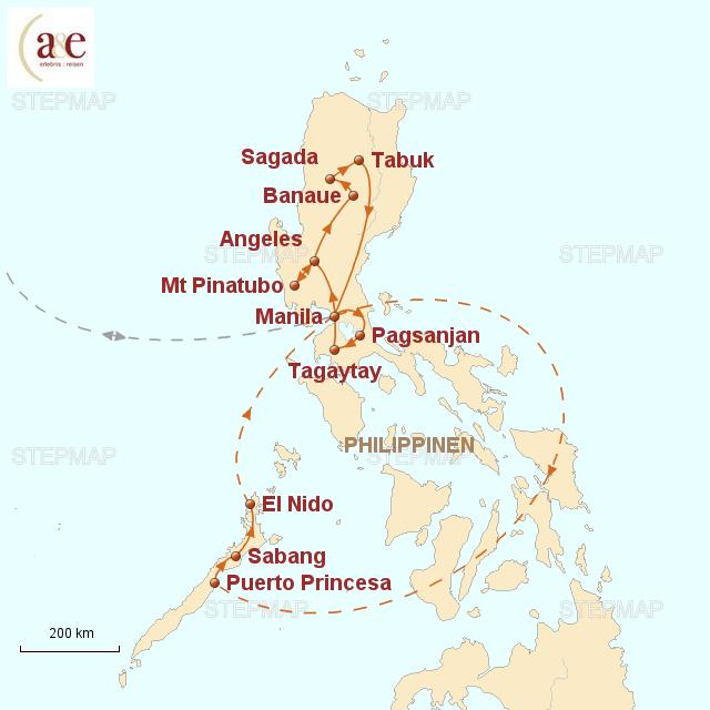 Routenkarte zur Reise Vergessenes Inselparadies