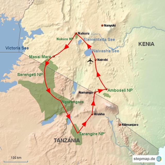 KE Kenia & Tanzania Combo