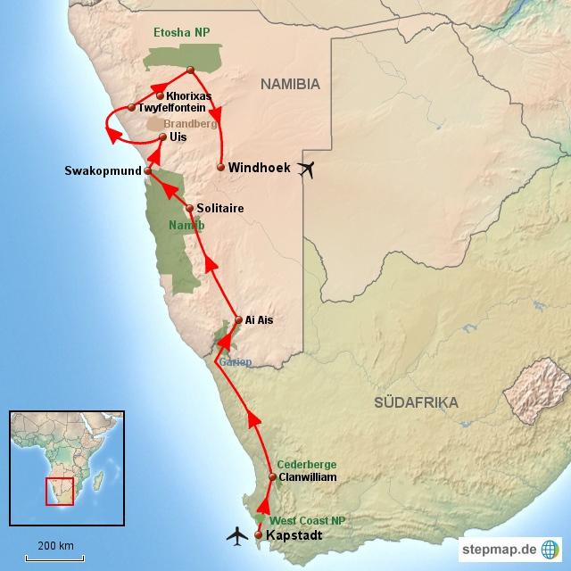 SA Südafrika & Namibia für Entdecker