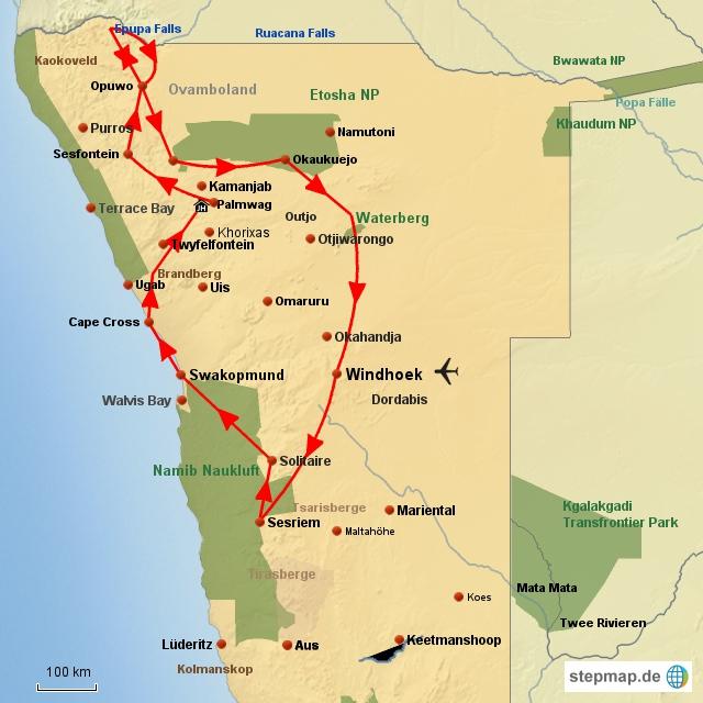 SW Unterwegs im Norden Namibias