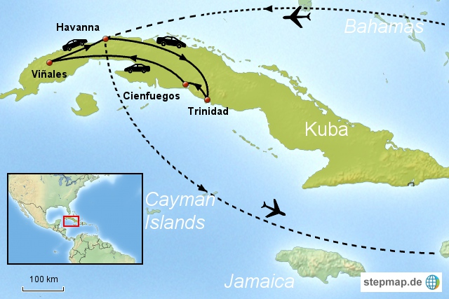 Mietwagenreise Kuba Option 1