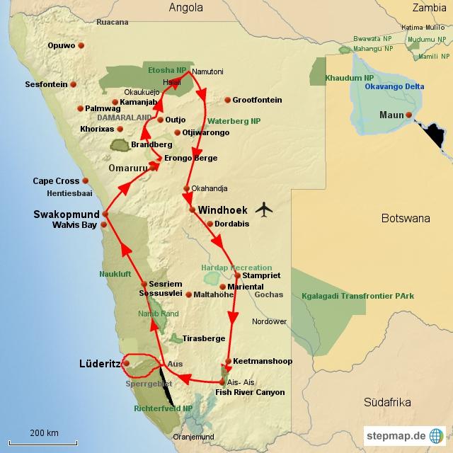 SW Große Namibia Rundreise