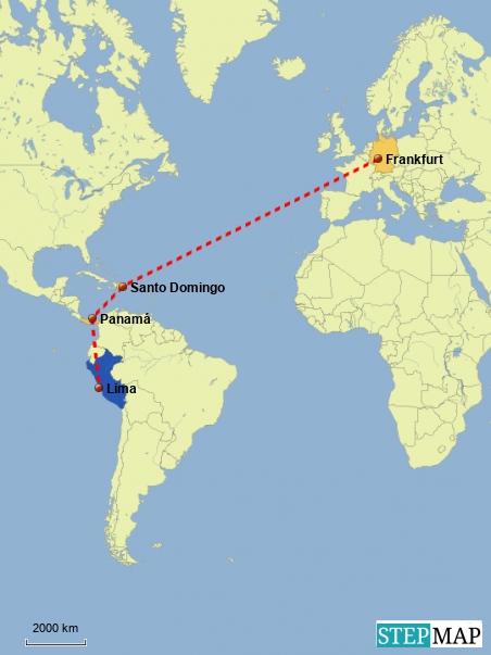 Anreise nach Lima
