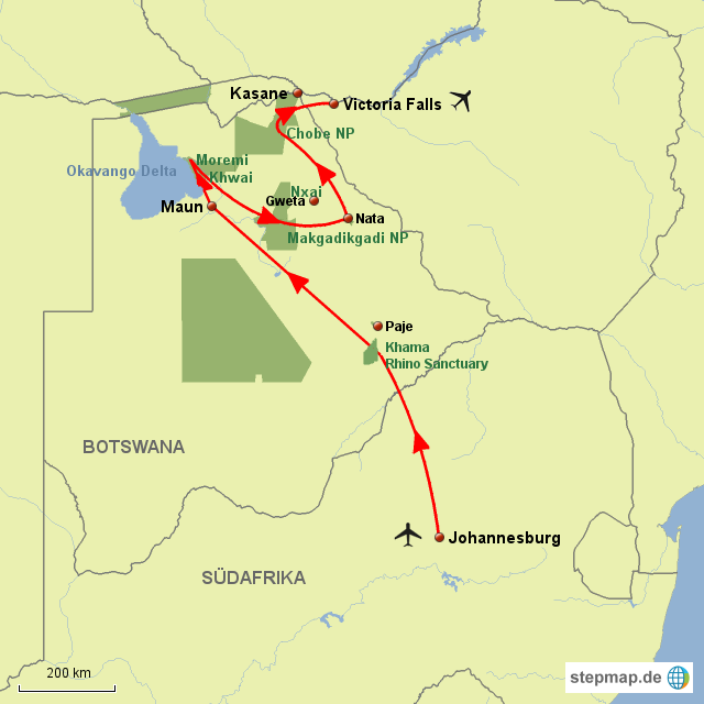 BO Die wilden Parks Botswanas
