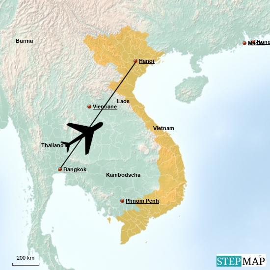Auf Wiedersehen  Thailand , hello Vietnam.