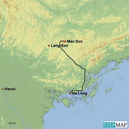 Von Ha Long nach Mau Son 170 km