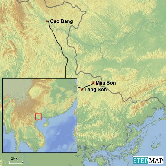 Vom Berg Mau Son nach Cao Bang 150 km