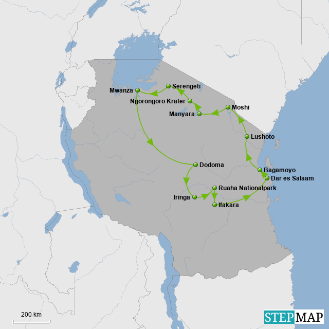 Route Tansania
