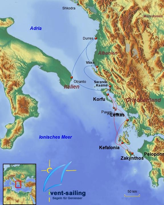Segelreisen Ionische Inseln