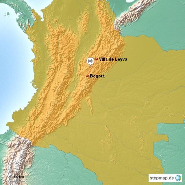 Ausflug nach Villa de Leyva....für diesen kleine Stück auf der Landkarte brauchten wir 6 Stunden !!!!