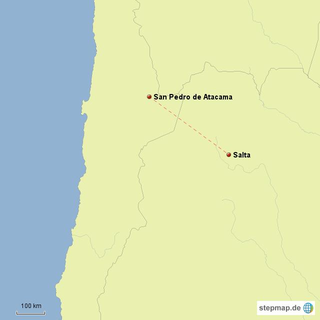 Die Fahrt von San Pedro nach Salta