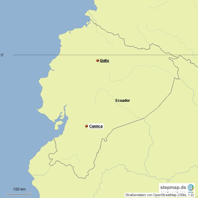 von Cuenca westwärts zum Pacific