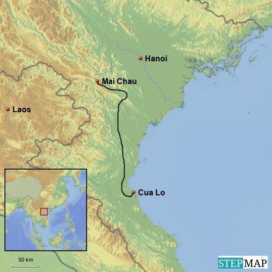 Cua Lo - Cuc Phuong NP - Mai Chau  300 km
