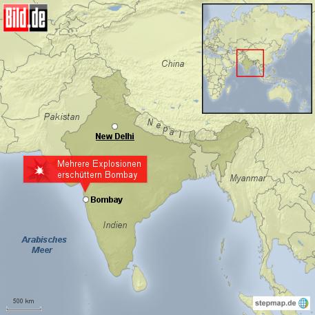 Bild: Mehrere Explosionen erschüttern Bombay