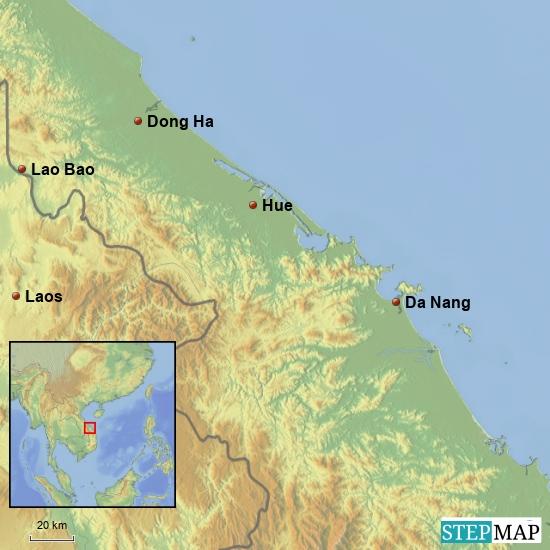 Von Da Nang Nach Lao Bao 250 km