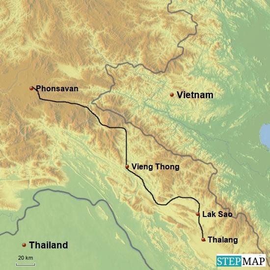 Thalang - Vieng Thong - Phonsavan  zwei Tage 400 km
