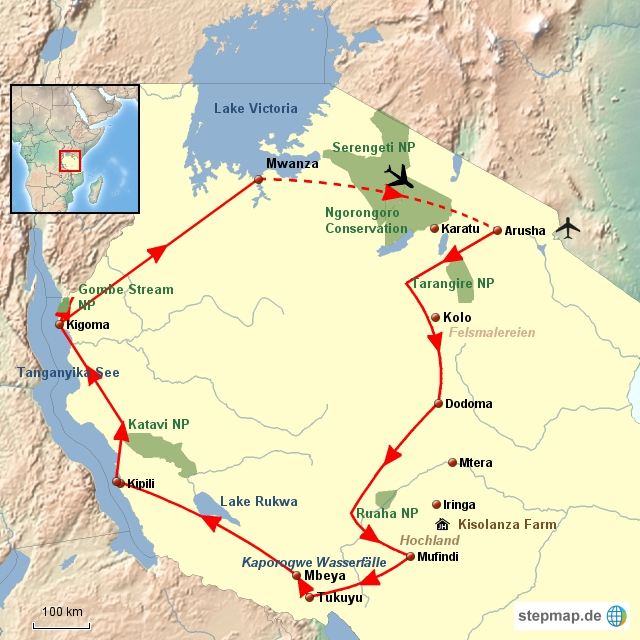 TZ Von Kilimanjaro bis zum Tanganyika See