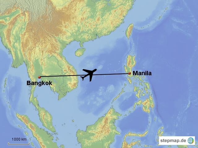 Bkk - Manila 2,5 h Kuwait Airways