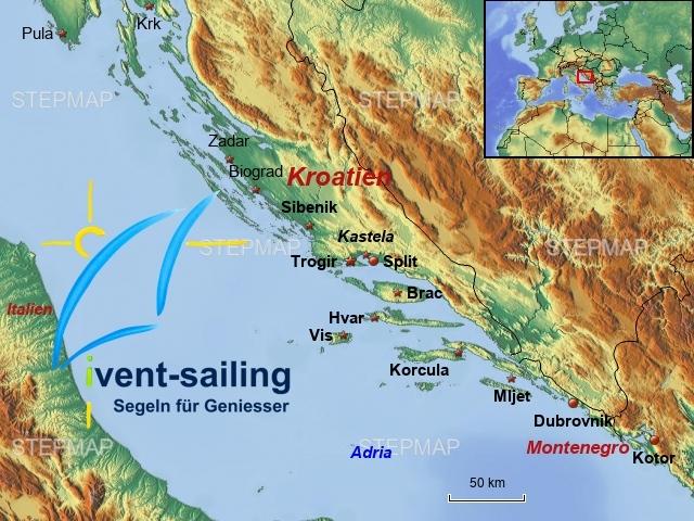 Segelrevier Dalmatien