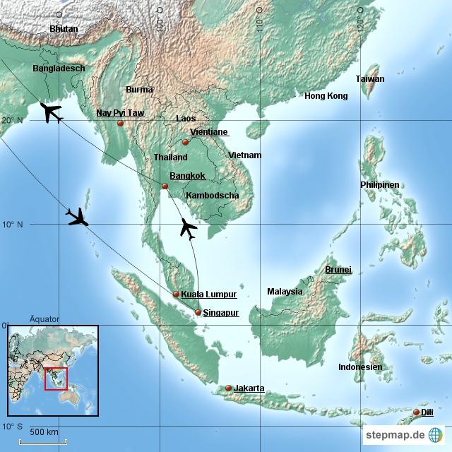 Südostasien 2016
