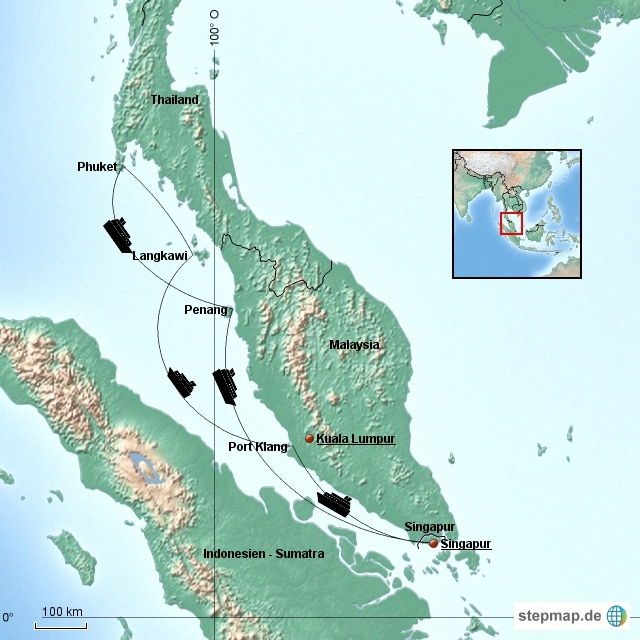 1. Etappe: Kreuzfahrt Singapur, Malaysia, Thailand Januar 2016