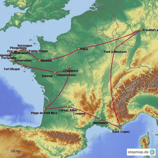 Frankreich-Tour 2012