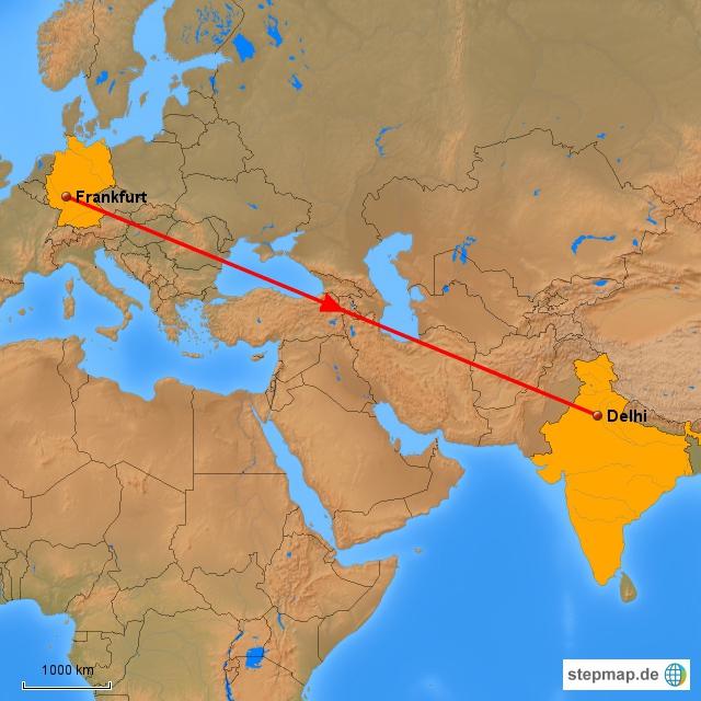Intercontinental Flug ... FFH nach Delhi