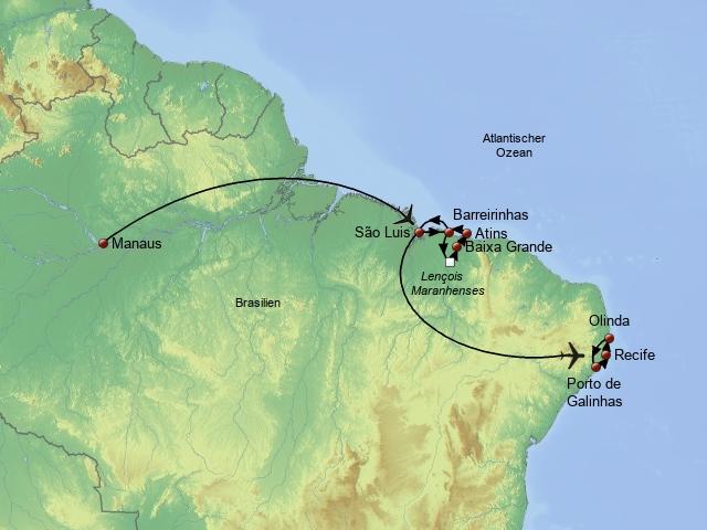 Amazonas, Duenen und Straende