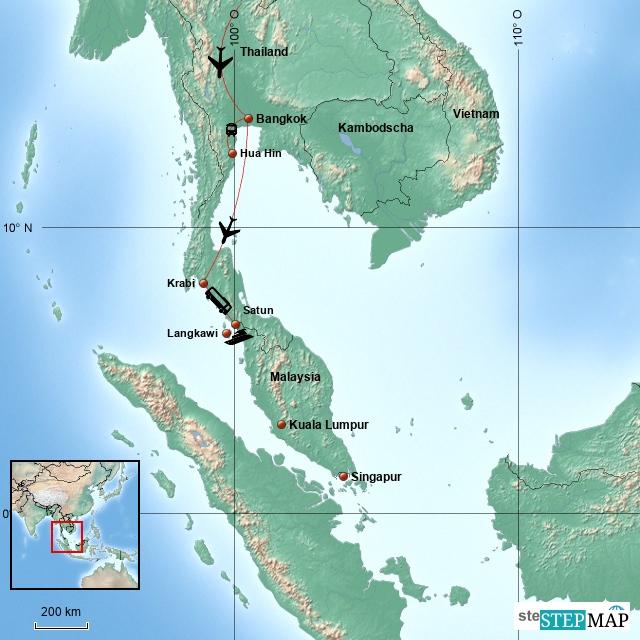 3. Etappe: Thailand, Der Süden und Malaysia, Langkawi - Februar/März 2016