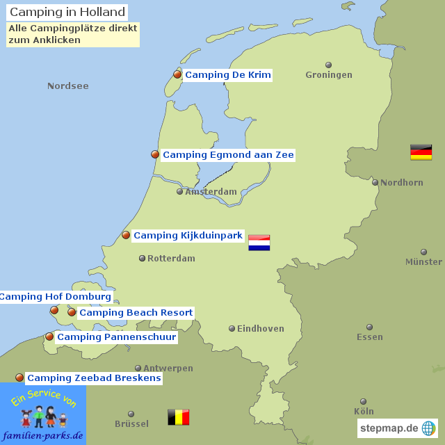 Camping Holland - Camping Niederlande