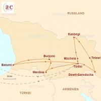 Routenkarte zur Reise Im Land des Goldenen Vlieses