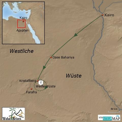 Wanderung in die Weiße Wüste