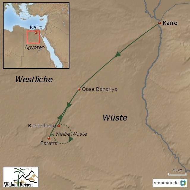 Mit dem Kamel durch die Weiße Wüste