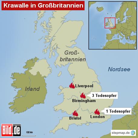 Bild: Krawalle in Großbritannien