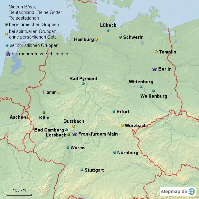 Böss, Deutschlandreise
