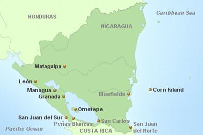 Nicaragua Hauptkarte