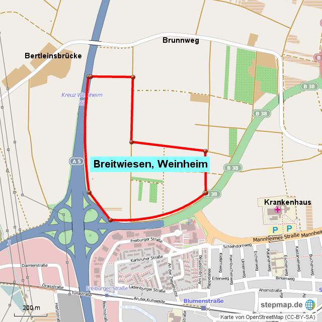 Breitwiesen, Weinheim