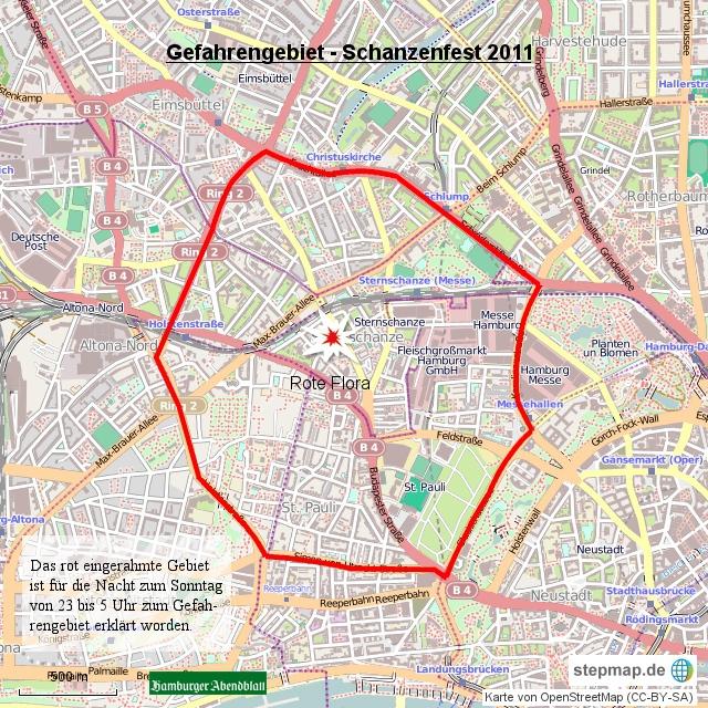 schanzenviertel hamburg karte Polizei erklärt Schanzenviertel erneut zum Gefahrengebiet  schanzenviertel hamburg karte