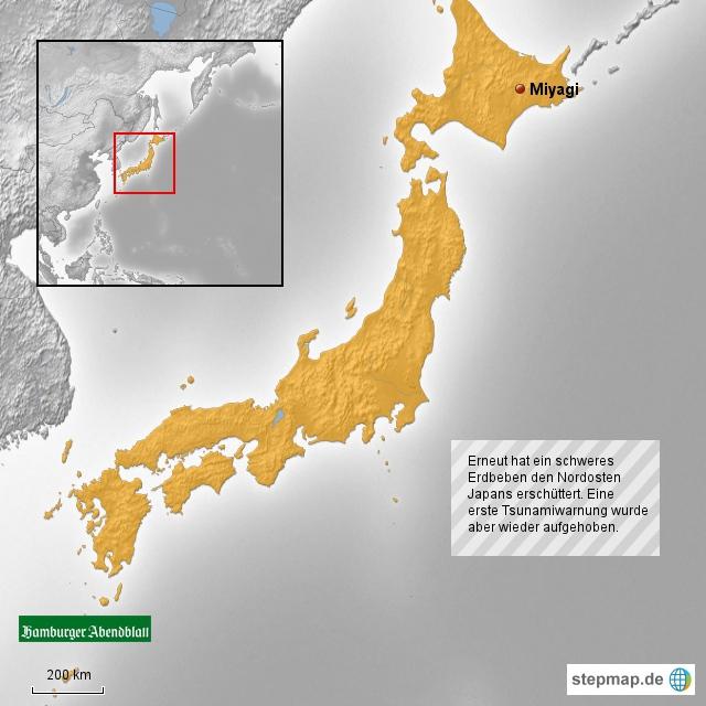 Erdbeben im Nordosten Japans
