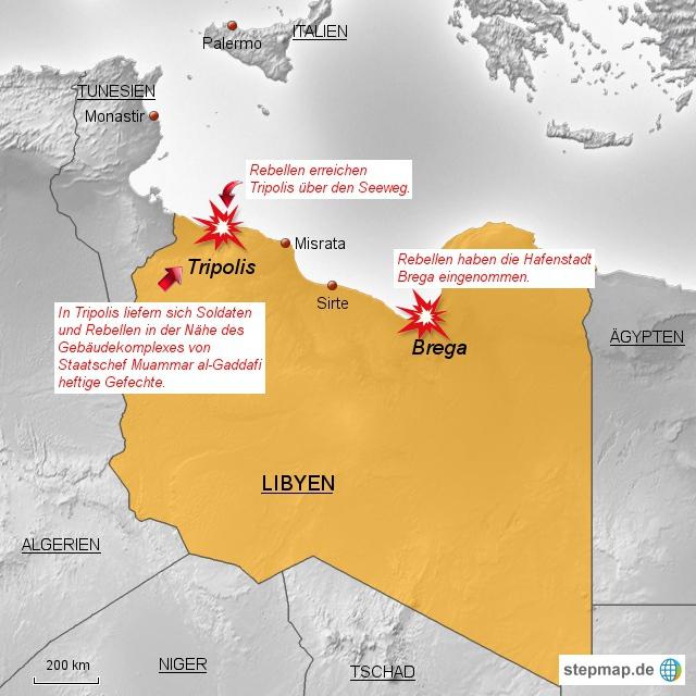 Rebellen nehmen Brega ein - Für Gaddafi wird es enger