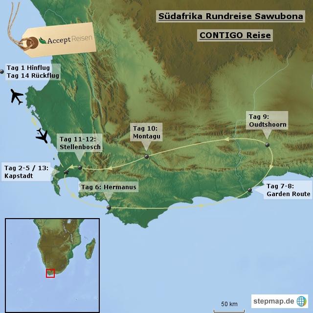 Südafrika Rundreise Sawubona