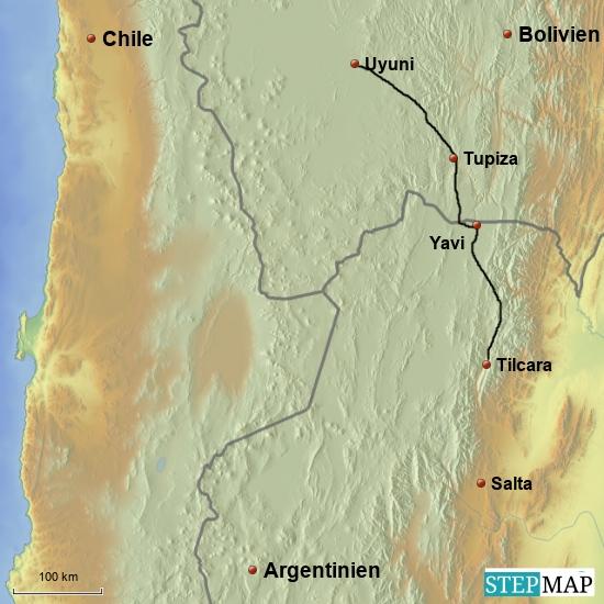 Von Yavi nach Tupiza, 100 km