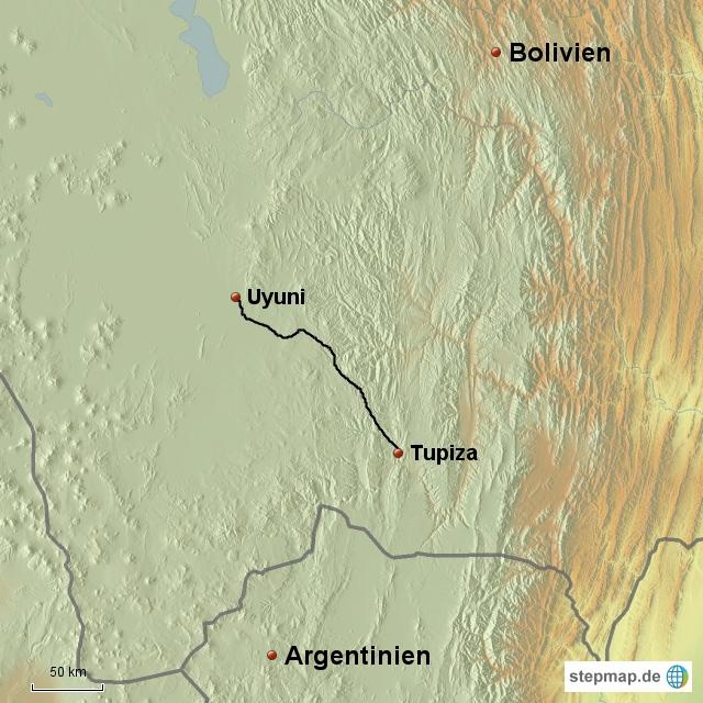 Tupiza - Uyuni, 200 km Staub, Schotter und Sandsturm
