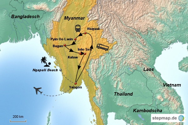 Myanmar Rundreise 15 Tage