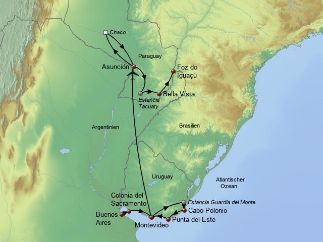 Argentinien Uruguay Paraguay