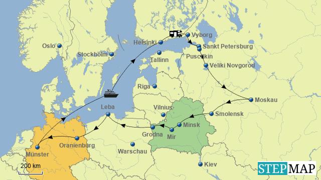 Wohnmobiltour durch Russland in 2016