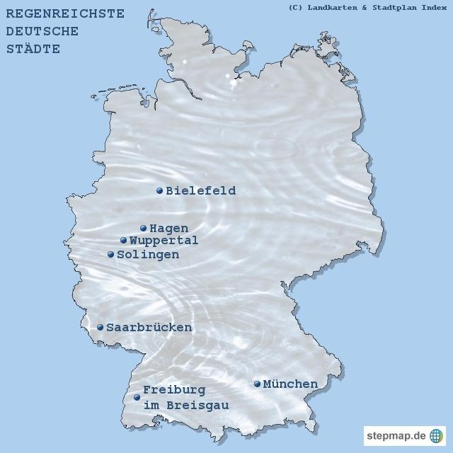 Regenreichste deutsche Städte