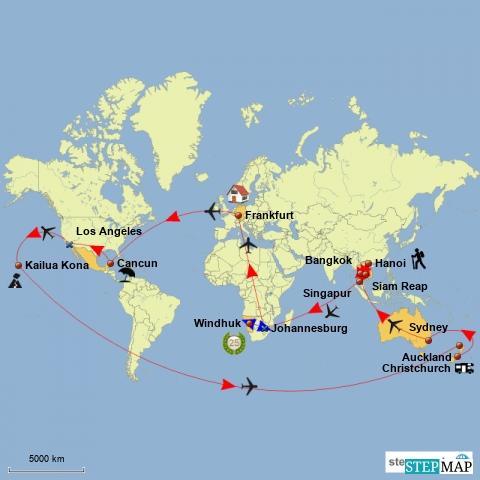 Weltreise 2017