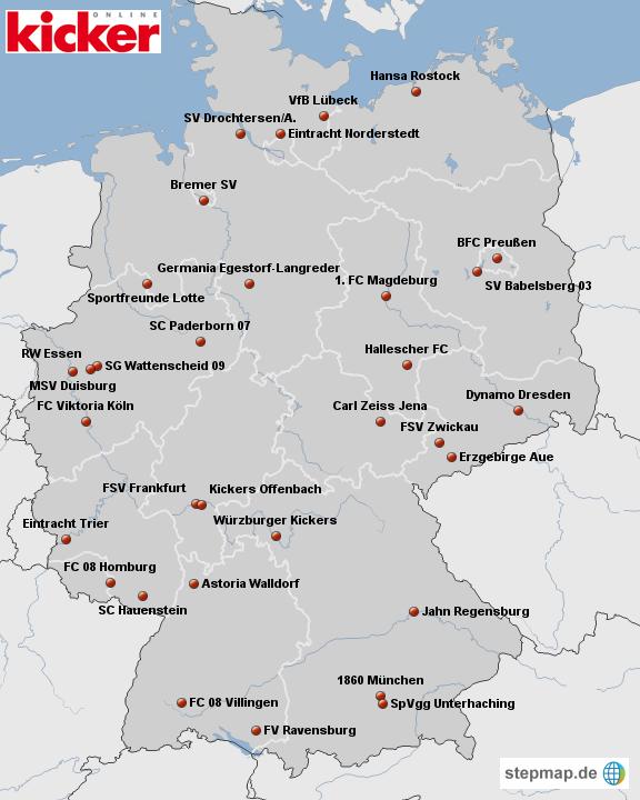 (Editiert) Die Reiseziele der Großen im DFB-Pokal