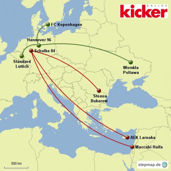 Kicker: Europa-League-Spielpaarungen